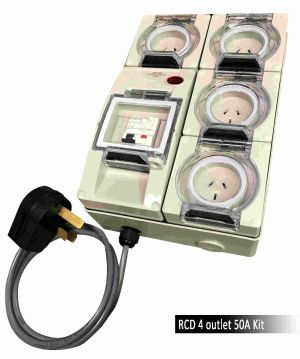 RCD 4 outlet Kit