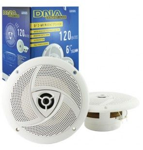 2 Way Marine Speakers - 1 Pair - 6.5 Inch