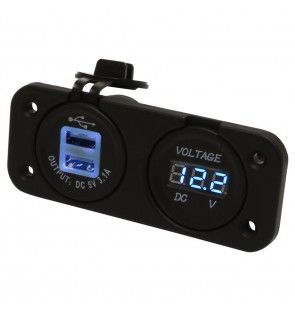 Heavy Duty Twin USB - Volt Meter