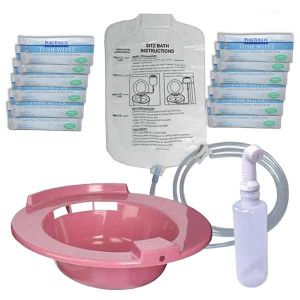 Sitz Bath Rose with Shattaf Solution Bag & Wipes