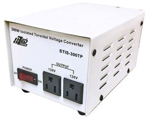 300W Voltage Converter Isolated Toroidal front Japanese