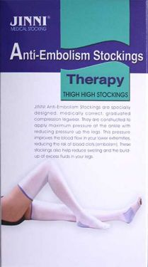 JINNI Anti Embolism Thigh High Compression Stocking with Peephole