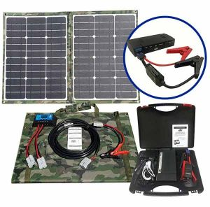 Jump Starter with 60W Solar panel kit