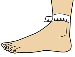 how to take ankle support measurement
