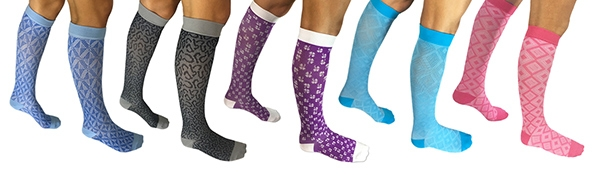 Patterned Compression Socks for men and women 15-20mmHg